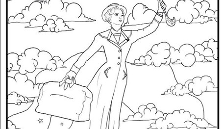 An outline of Mary Poppins