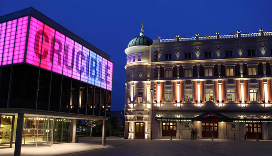 External shot of Sheffield Theatres from Tudor Square