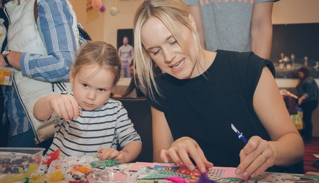 Members of the public taking part in crafts during Fun Palaces 2018