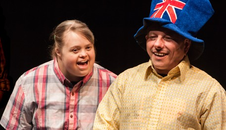 Rehearsal image of the Company of Launchpad, Sheffield Theatres' project for adults 18+ with learning disabilities and/or Autism
