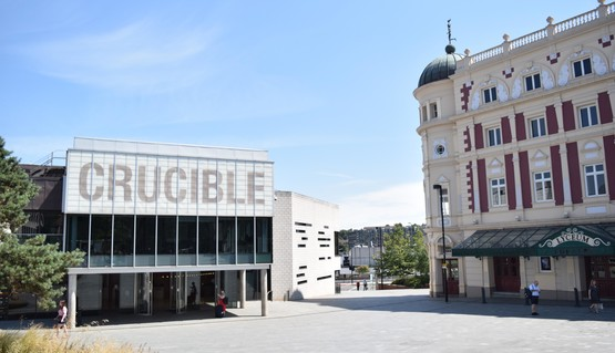 Exteriors of Crucible and Lyceum from Tudor Square