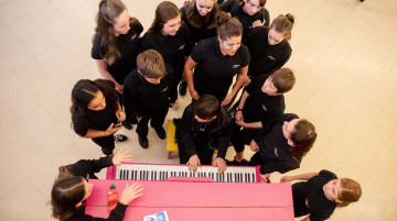 Children attending a workshop at Sheffield Theatres