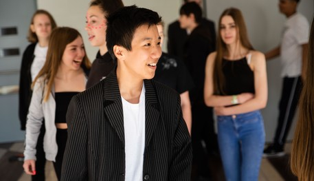 Young people attending a workshop at Sheffield Theatres