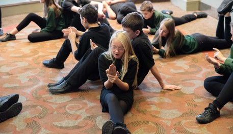 Children attending a workshop at Sheffield Theatres