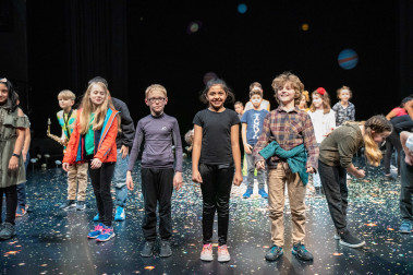 Children people attending a workshop at Sheffield Theatres