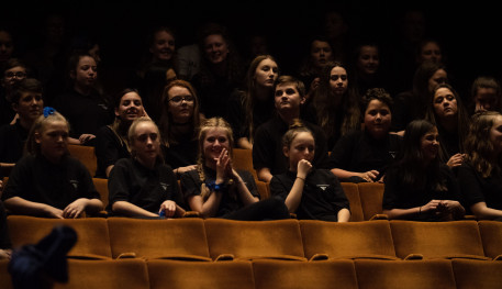School children attending a workshop at Sheffield Theatres