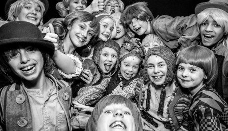 Image of school children attending one of Sheffield Theatres learning workshops