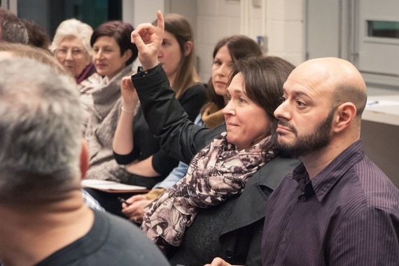 Sheffield Theatres Making Room members attending a talk