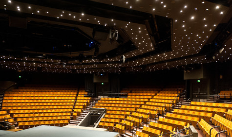 Image of Crucible Auditorium seating and lights