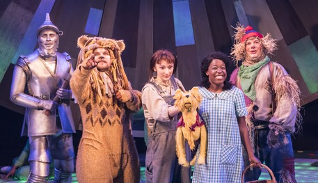 Production shot of the Company of The Wizard of Oz