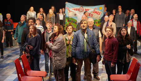 Production shot of the company of Songs from the Seven Hills