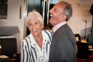 Two members of the public dancing at one of Sheffield Theatres' Dementia Friendly Tea Dances